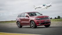 Jeep Grand Cherokee SRT vs. Stunt Plane