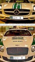 Mercedes-Benz SLS and Bentley Continental Dubai Police Fleet 06.05.2013
