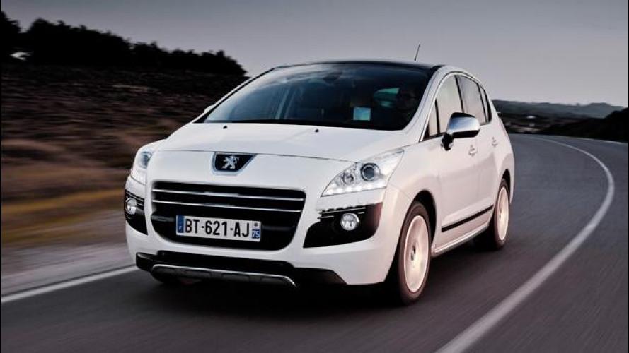 La Peugeot 3008 HYbrid4 scende a 91 g/km di CO2