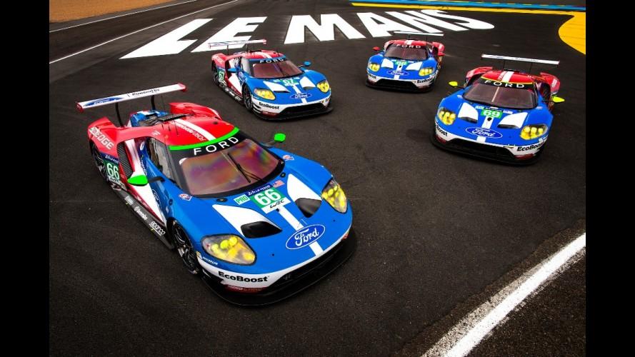 Novo Ford GT abocanha 4 das 5 primeiras posições na Le Mans 2016
