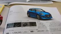 2017 Suzuki Swift Japanese brochure