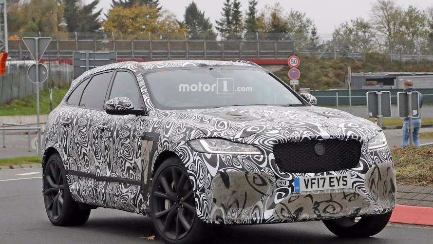 2019 Jaguar F-Pace SVR spotted hiding massive air vents