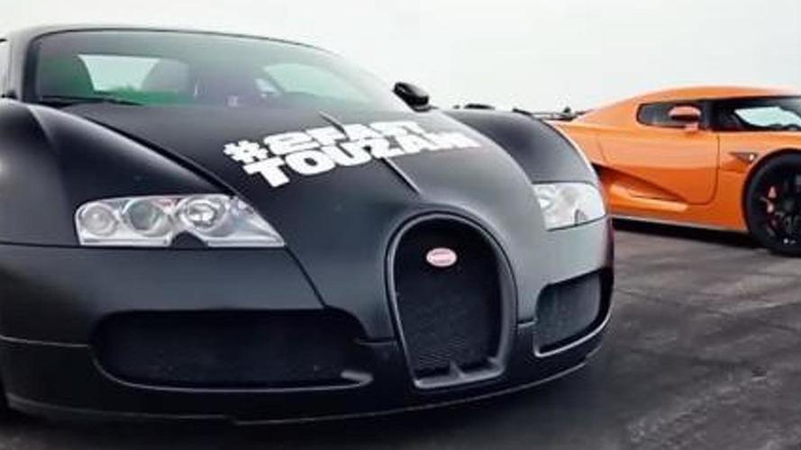 Christian von Koenigsegg drives Bugatti Veyron, races it with Koenigsegg CCXR [video]