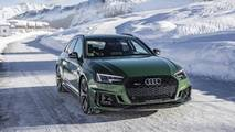 Green In audi rs4 avant flaunts sonoma green paint in a winter