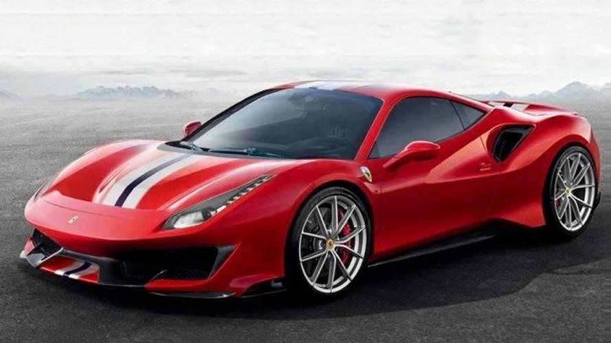 Vazam imagens da nova Ferrari 488 Pista, versão extrema com 721 cv