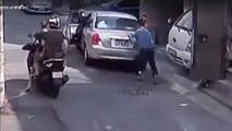 Funny car crash in Thailand