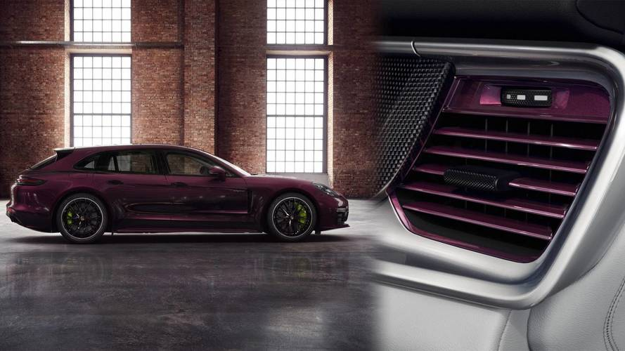 Porsche Will Sell You A Purple Panamera Wagon With Matching Vents