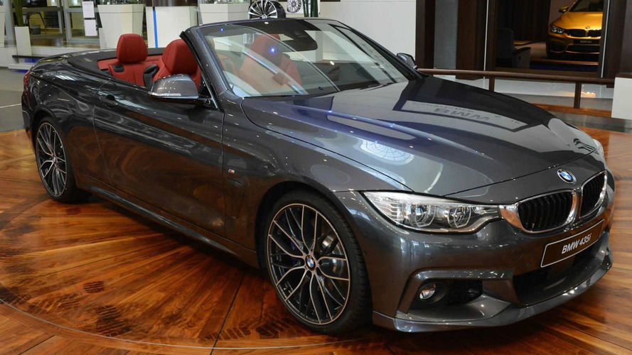 BMW 4-Series Convertible with M and AC Schnitzer parts displayed at Abu Dhabi dealer