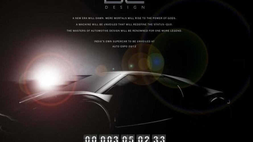 DC Design concept teased - India's supercar