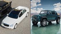 Mercedes-Maybach G650 versus 62 S Landaulet