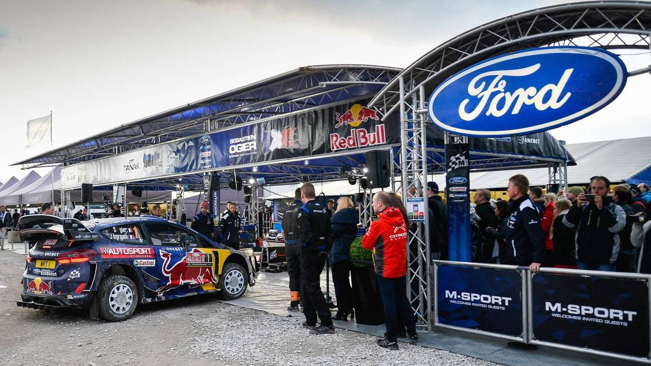 The car of Sébastien Ogier, Julien Ingrassia, Ford Fiesta WRC, M-Sport in service