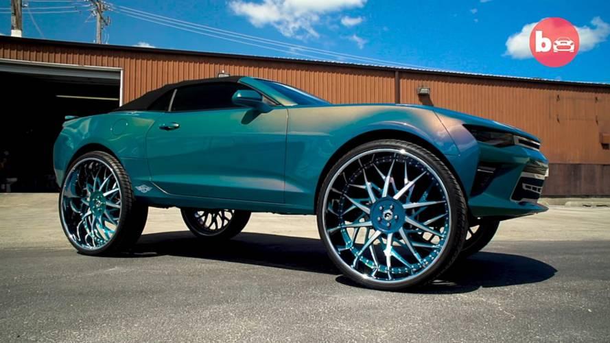 2016 Chevy Camaro Convertible On 32 Inch Forgiato Blocco