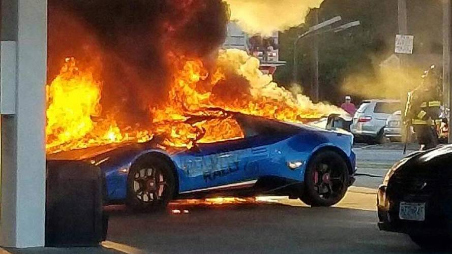 Lamborghini Huracan Meets Fiery Demise After Pump Snafu