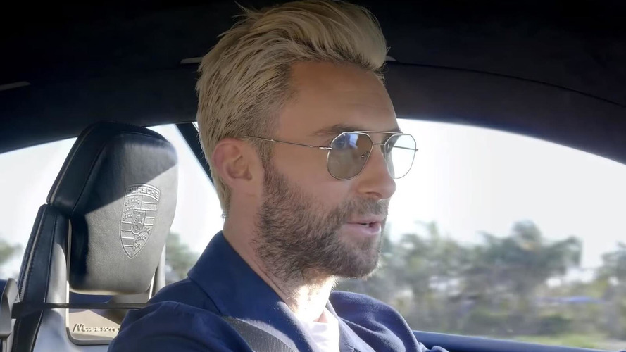 Watch As Adam Levine Drives Porsche Mission E