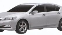 2013 Acura RLX revealed in patent photos