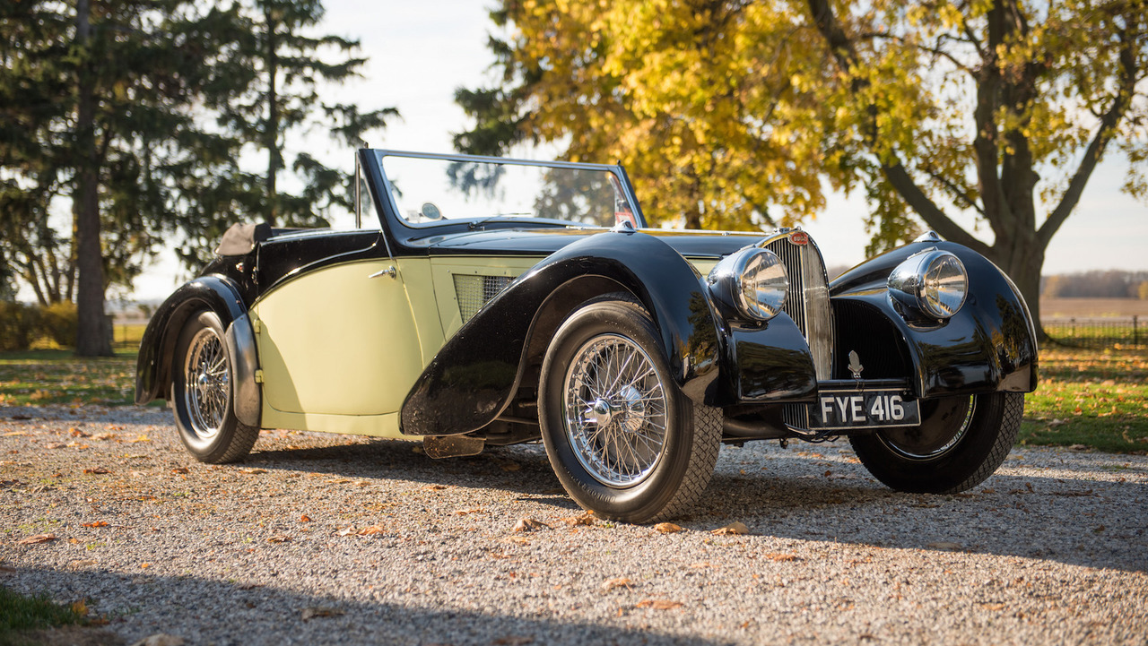 beautiful bugatti type 57s cabriolet could fetch 8m at auction. Black Bedroom Furniture Sets. Home Design Ideas