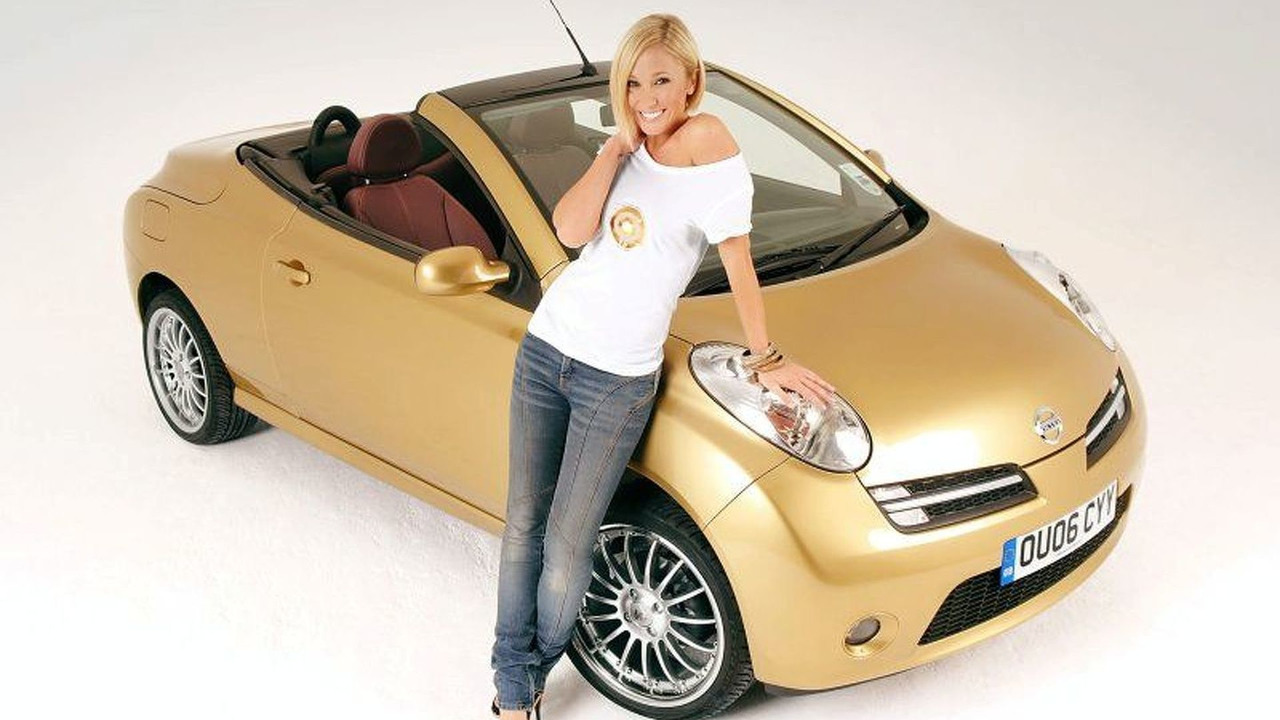Jenny Frost with gold Micra C+C
