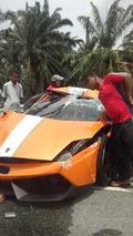 Lamborghini Gallardo LP550-2 MLE crashed