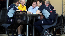 Christian Horner (GBR) with Jean-Michel Jalinier (FRA), Dr Helmut Marko (AUT) and other members of the Red Bull Racing team / XPB