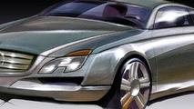 2010 Mercedes-Benz E-Class Coupe design sketch 04.03.2009