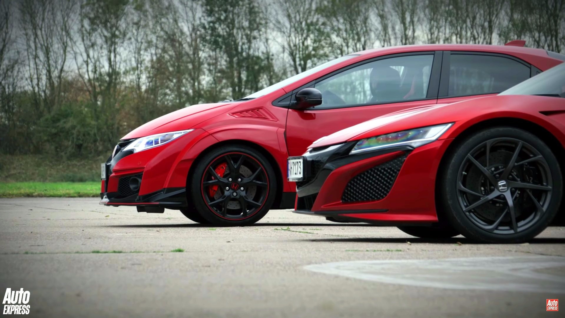 Is the civic type r faster than the nsx with a head start for Honda civic type s
