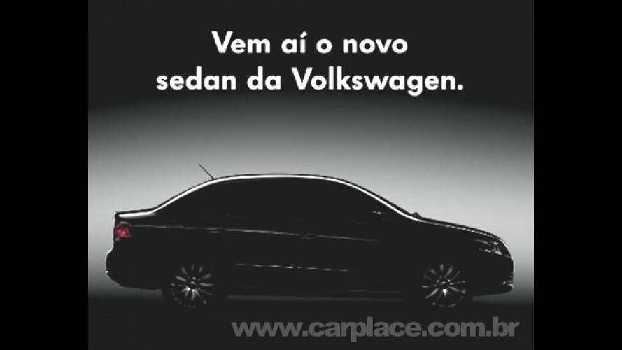 Volkswagen coloca painel do sedan do Novo Gol (Voyage) na fachada da fábrica