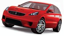 Ferrari SUV artist renderings 1200