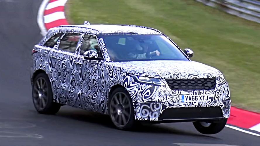 El Range Rover Velar SVR 2018, en tres ruedas y con camuflaje