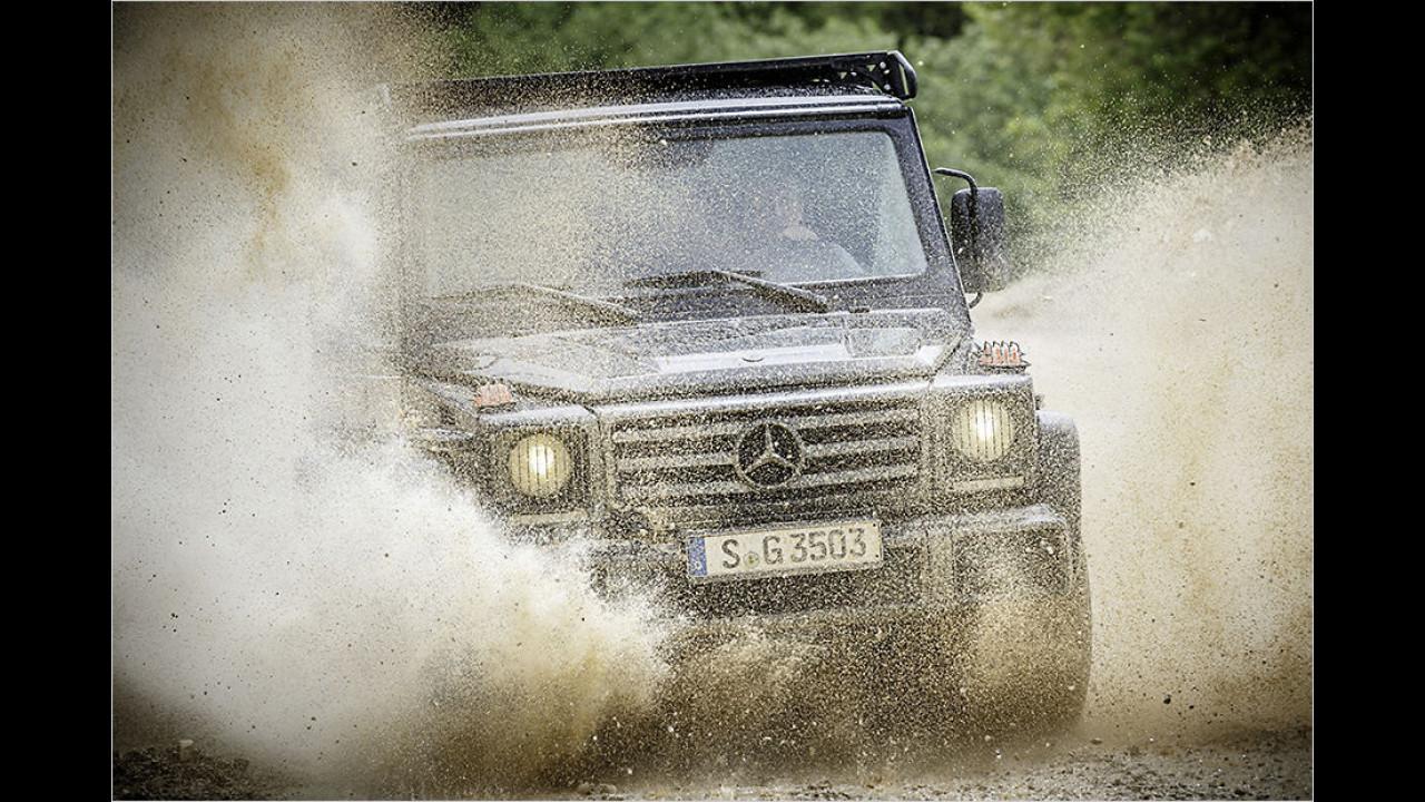 Platz 3: Mercedes G 350 d (2.612 Kilo)