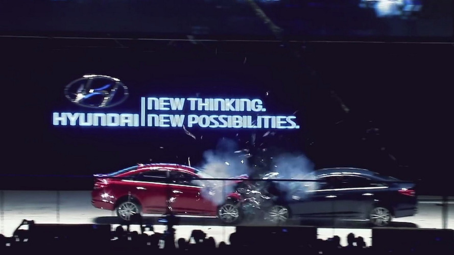 Hyundai crashes Sonata US-spec with KDM-spec to demonstrate build quality is the same [video]