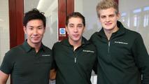 Kamui Kobayashi, Robin Frijns, Marcus Ericsson Caterham F1 Team Leafield UK