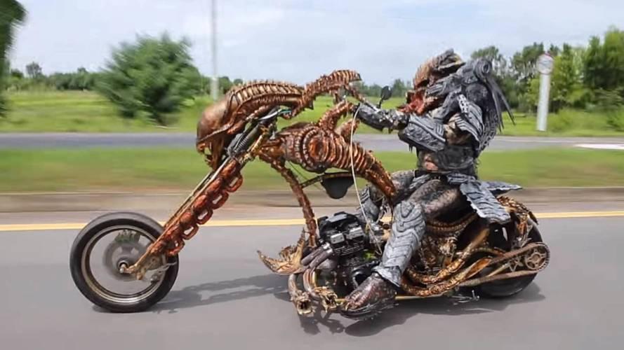 Local Predator Takes To Thai Streets on Xenomorph Bike
