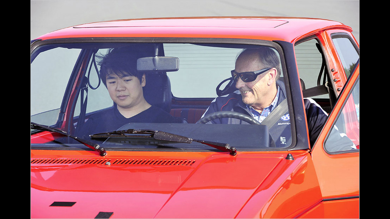 Lang Lang und Hans-Joachim Stuck: VW Golf I GTI