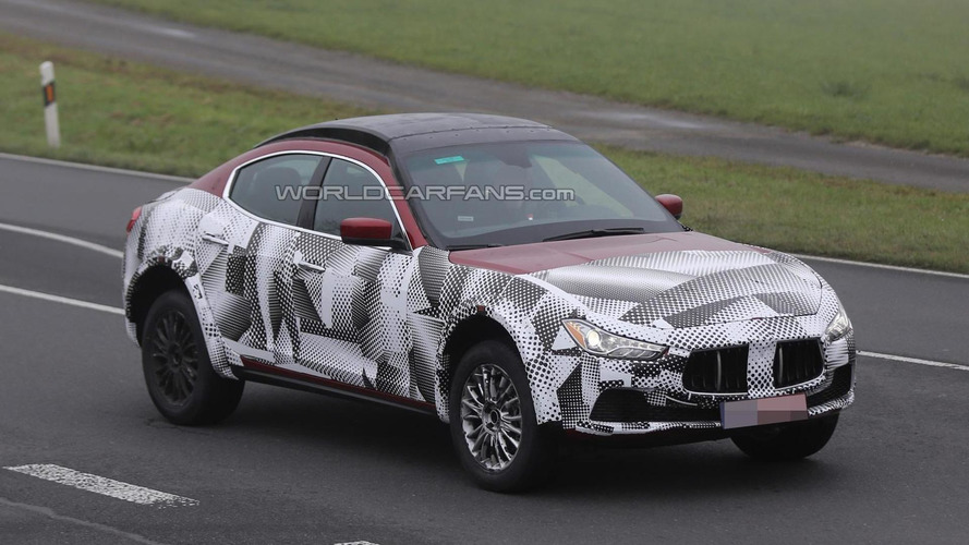 Maserati Levante mule still looks weird in latest spy shots