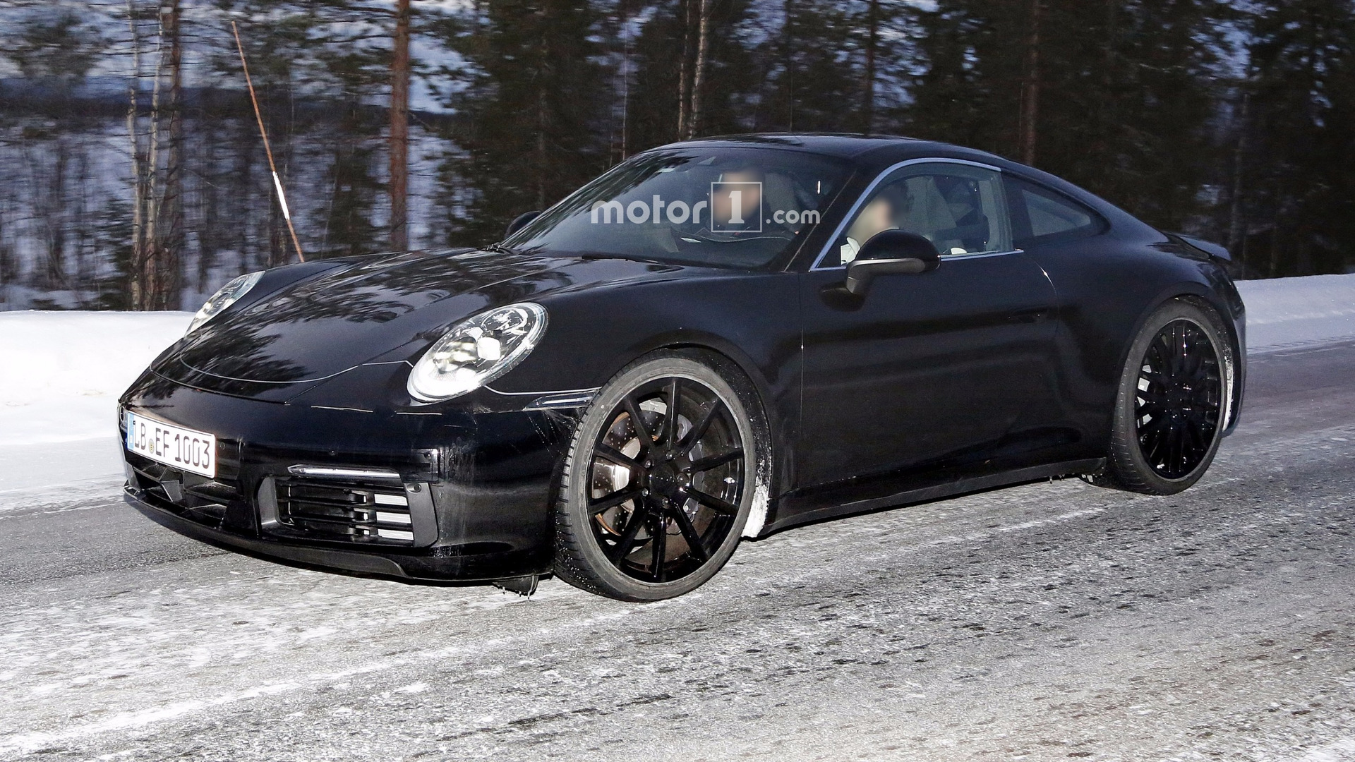 2019 porsche 911 spied with mission e taillights update. Black Bedroom Furniture Sets. Home Design Ideas