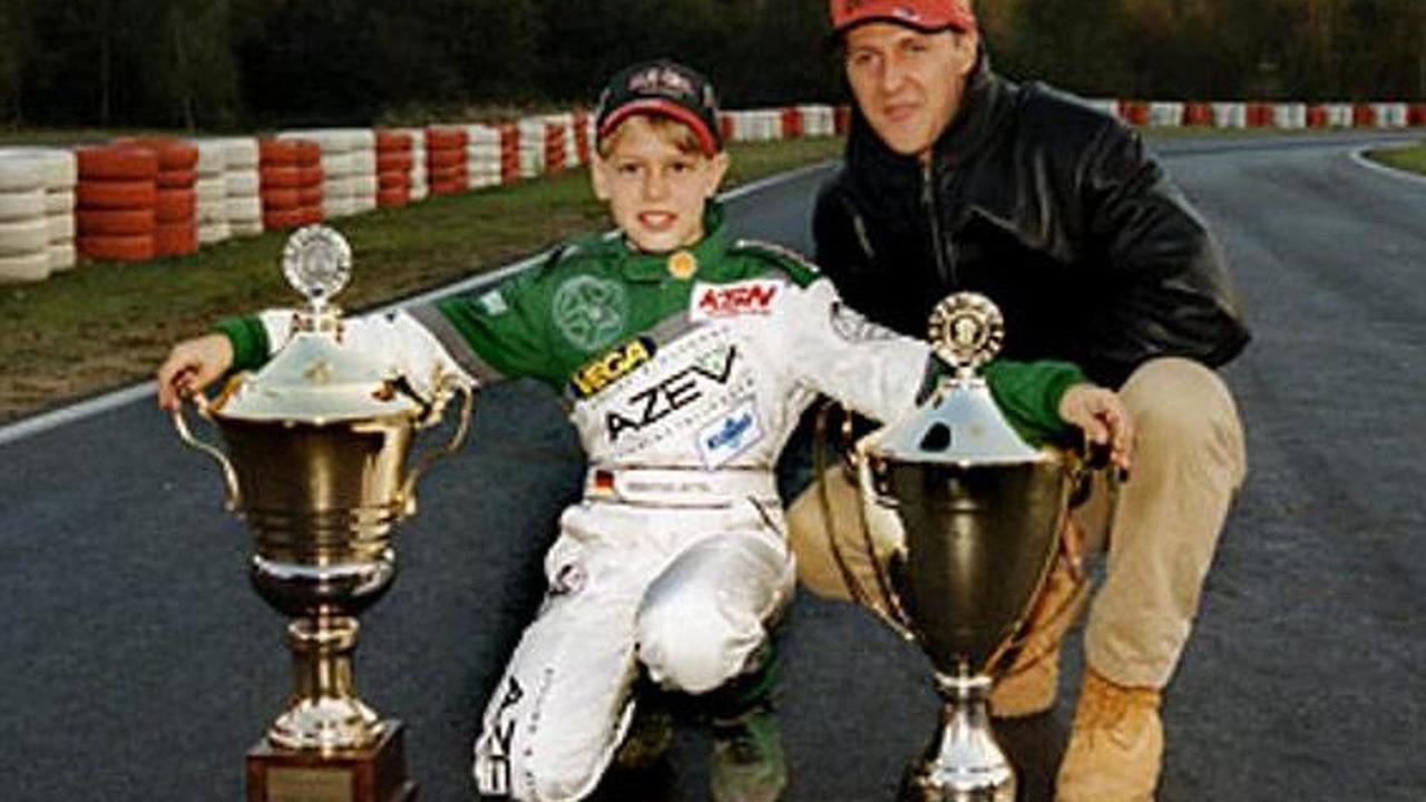 Young Sebastian Vettel with Michael Schumacher 1999, 600, 18.11.2010