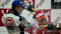 Jenson Button, Michael Schumacher, Podium, Suzuka, Japan 10.10.2004