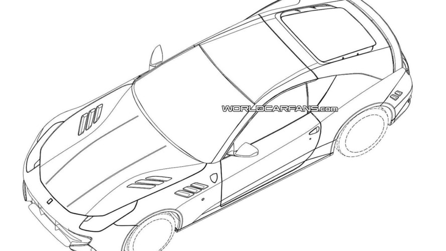 Mysterious hardcore two-seater Ferrari FF patent drawings surface