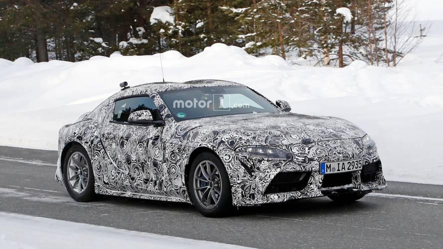 Toyota Supra 2018: nuevas fotos espía, posando en la nieve
