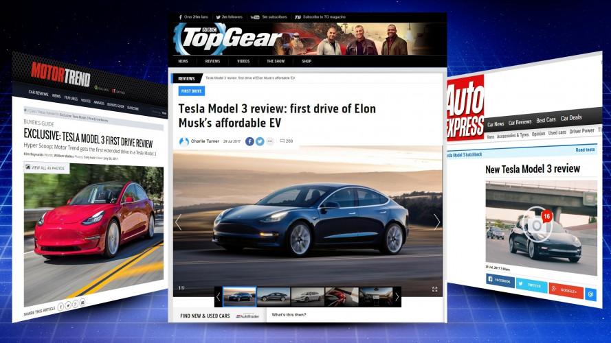Tesla Model 3, come va secondo americani e inglesi