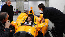 Fernando Alonso, Andretti Autosport Honda sits in the car