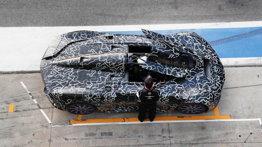 Techrules supercar looks like a spaceship at Monza