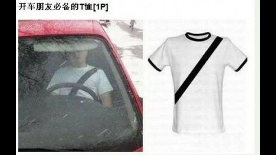 Jeitinho Chinês: camiseta imita cinto para enganar polícia
