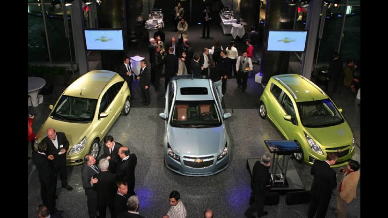 Salão Detroit: Chevrolet mostra Agile ao lado de dois futuros lançamentos brasileiros