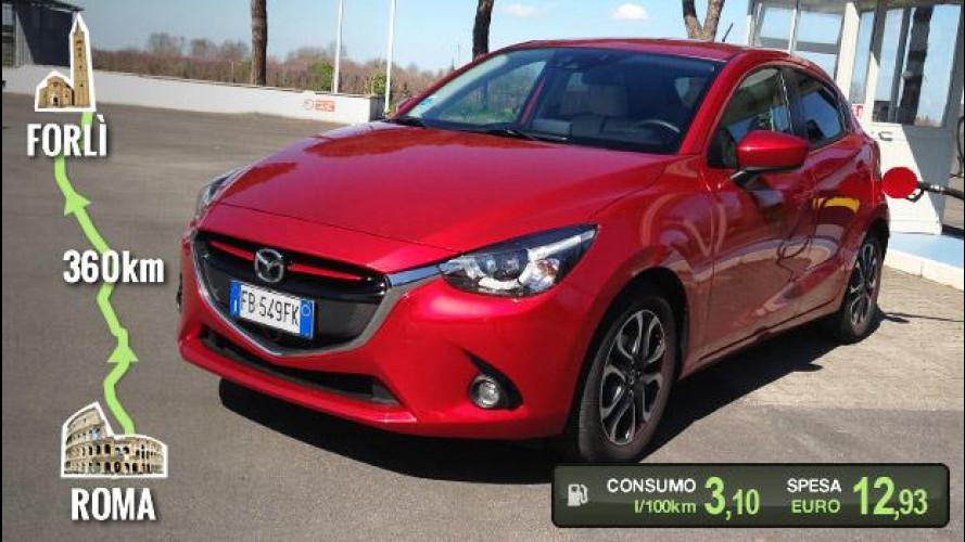 Mazda2 1.5 D, la prova dei consumi reali [VIDEO]