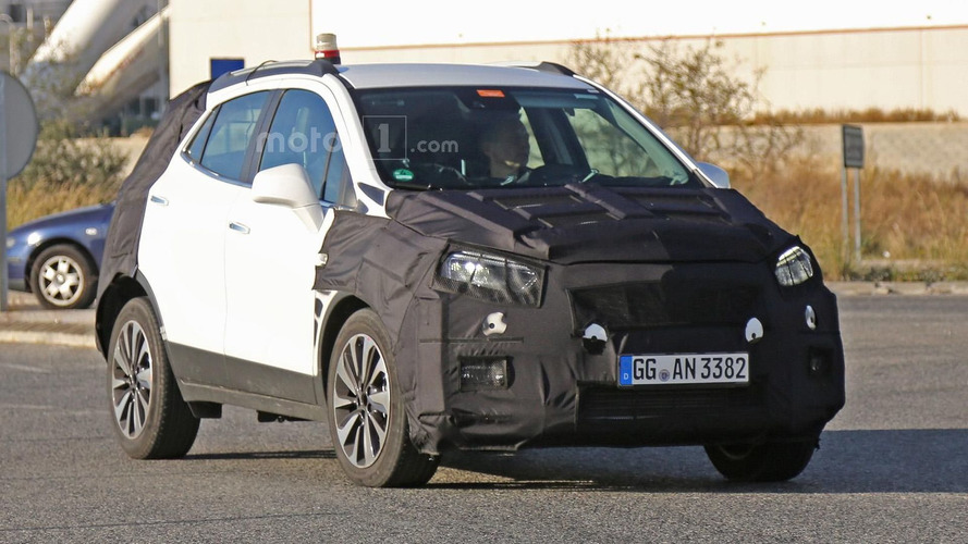 Opel Mokka facelift spied wearing production head- and taillights