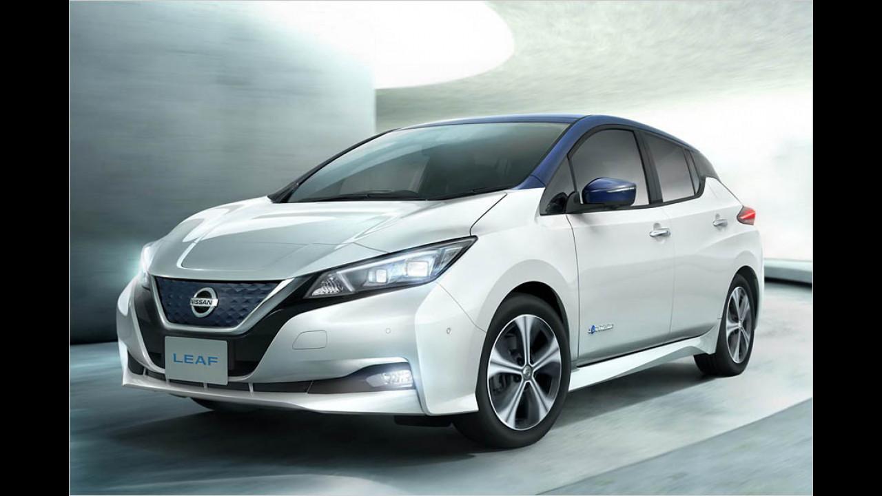 Nissan Leaf (ab Januar 2018): 378 km