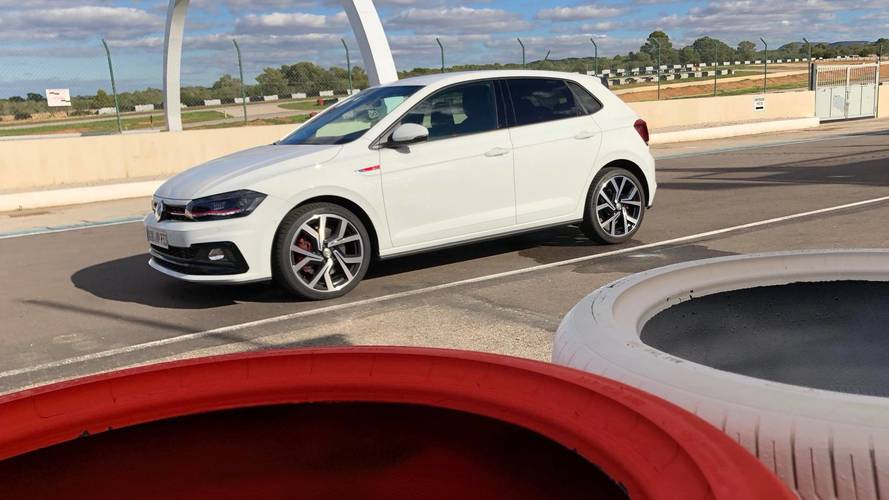 watch the 2018 volkswagen polo gti hit the track. Black Bedroom Furniture Sets. Home Design Ideas