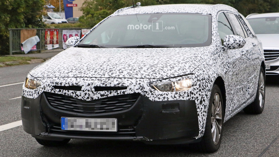2018 Opel Insignia wagon spy photos