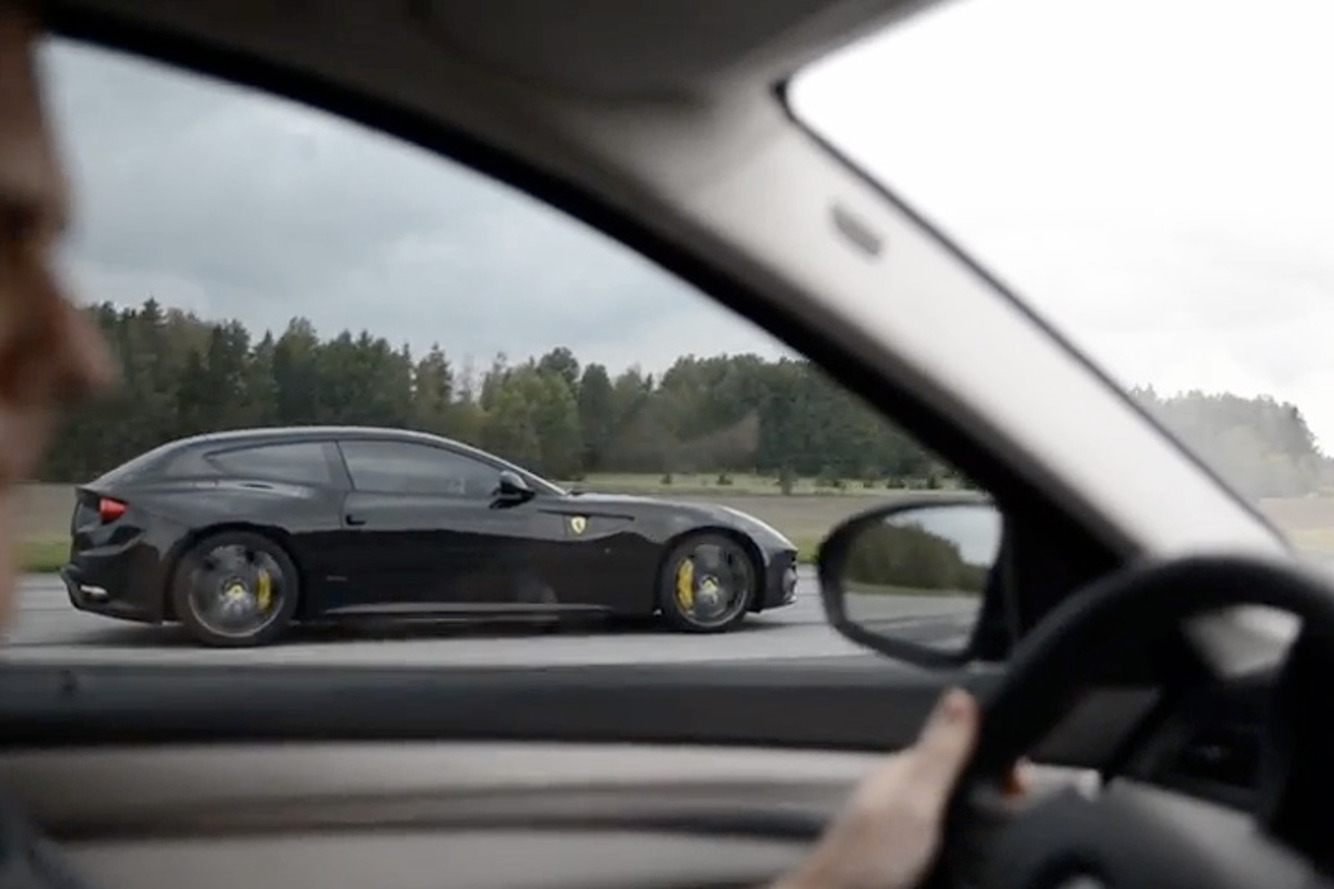 Watch this BMW M5 Beat a Ferrari in a Drag Race